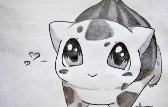 аниме покемоны карандашом