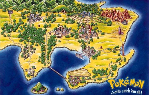 Карта мира покемонов